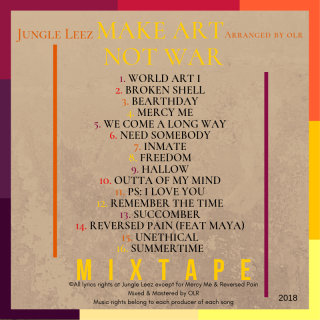 2. jungle leez - make art not war back cover
