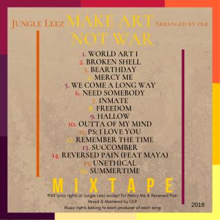 2. jungle leez - make art not war back cover